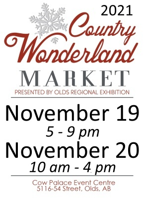 ORE hosts the Country Wonderland Christmas Farmer's Market the last Saturday in November in conjunction with the Olds Fashioned Christmas activities.