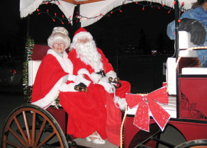 Here's Santa Claus and Mrs Claus during the 2008 Santa Claus Parade of Lights.
